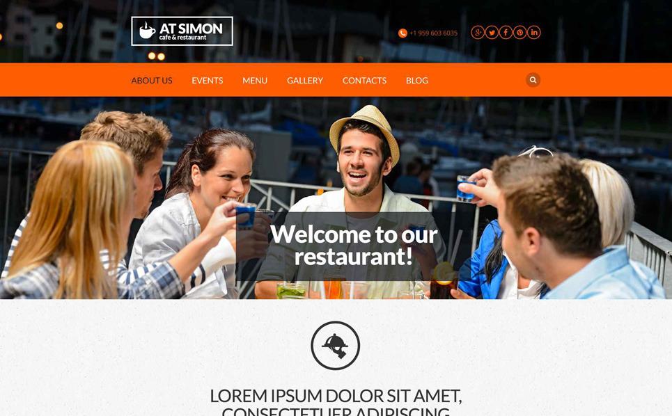 Responzivní Šablona webových stránek na téma Recenze Restaurací New Screenshots BIG