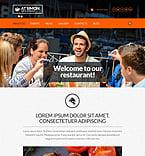 Cafe & Restaurant Website  Template 53010