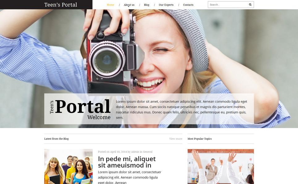 Reszponzív Tinédzser klubbok Weboldal sablon New Screenshots BIG