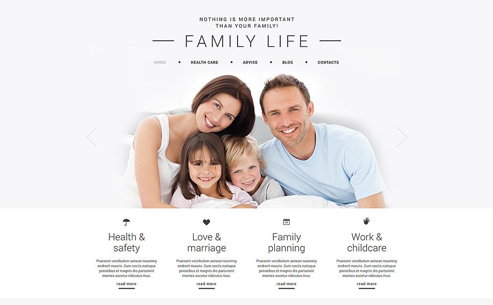 Адаптивний Joomla шаблон на тему сім`я New Screenshots BIG