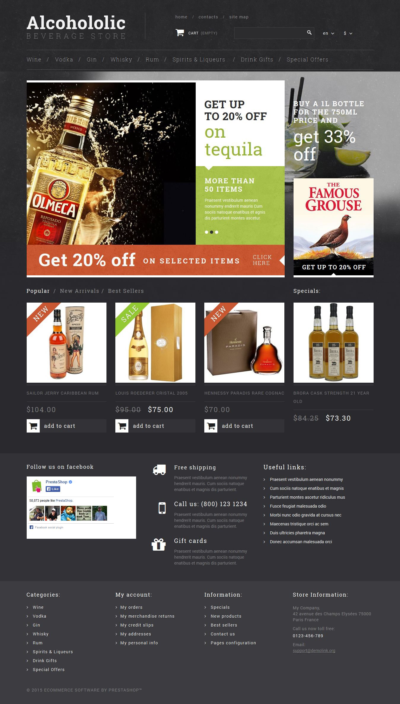 The Alcoholic Beverage Store PrestaShop Design 53034, one of the best PrestaShop themes of its kind (food & drink, most popular), also known as alcoholic beverage store PrestaShop template, scoth PrestaShop template, whisky PrestaShop template, rum PrestaShop template, cognac PrestaShop template, armagnac PrestaShop template, gin PrestaShop template, jenever PrestaShop template, absinthe PrestaShop template, vodka PrestaShop template, tequila PrestaShop template, glenfiddich PrestaShop template, absolut PrestaShop template, vanilia PrestaShop template, ancnoc PrestaShop template, balvenie PrestaShop template, shopping cart and related with alcoholic beverage store, scoth, whisky, rum, cognac, armagnac, gin, jenever, absinthe, vodka, tequila, glenfiddich, absolut, vanilia, ancnoc, balvenie, shopping cart, etc.