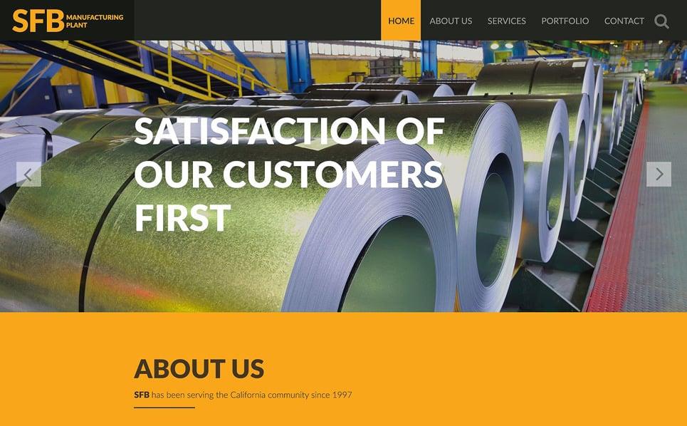 Responzivní Šablona webových stránek na téma Průmysl New Screenshots BIG