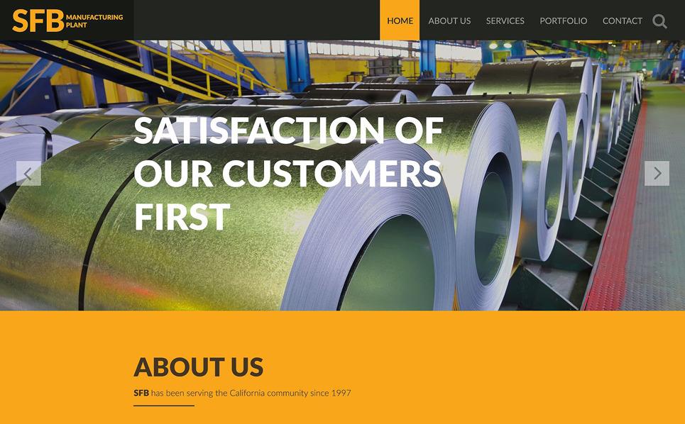 Template Siti Web Responsive #53035 per Un Sito di Industria New Screenshots BIG