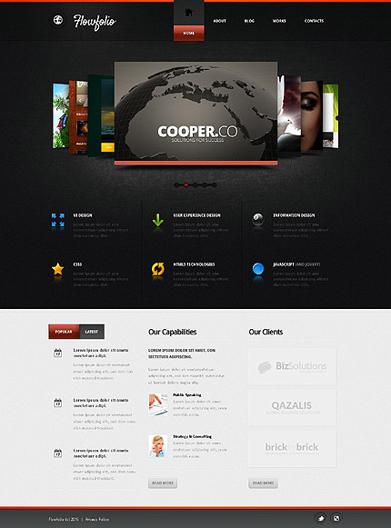 39 flowfolio design 39 joomla template 53039. Black Bedroom Furniture Sets. Home Design Ideas