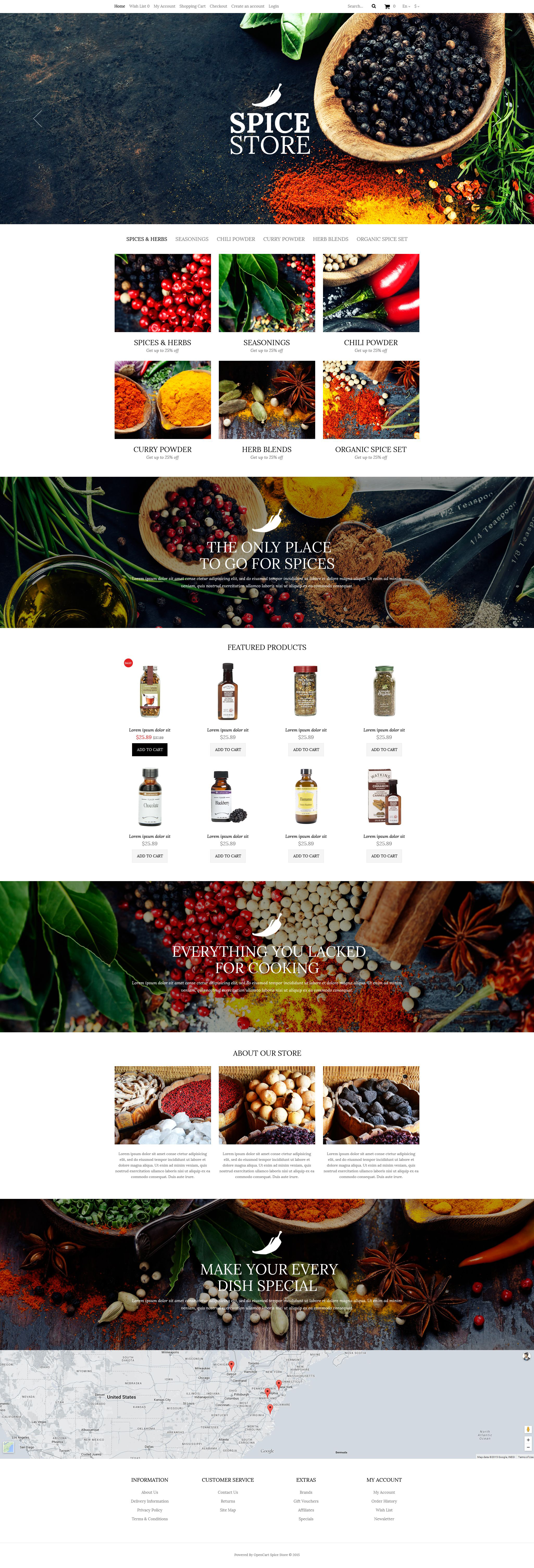 The Spices Spice Store OpenCart Design 53040, one of the best OpenCart templates of its kind (food & drink, most popular), also known as spices spice store OpenCart template, spicy OpenCart template, flavour shop OpenCart template, cook OpenCart template, pepper OpenCart template, salt OpenCart template, powder OpenCart template, blend OpenCart template, cinnamon OpenCart template, dried OpenCart template, herbs and related with spices spice store, spicy, flavour shop, cook, pepper, salt, powder, blend, cinnamon, dried, herbs, etc.