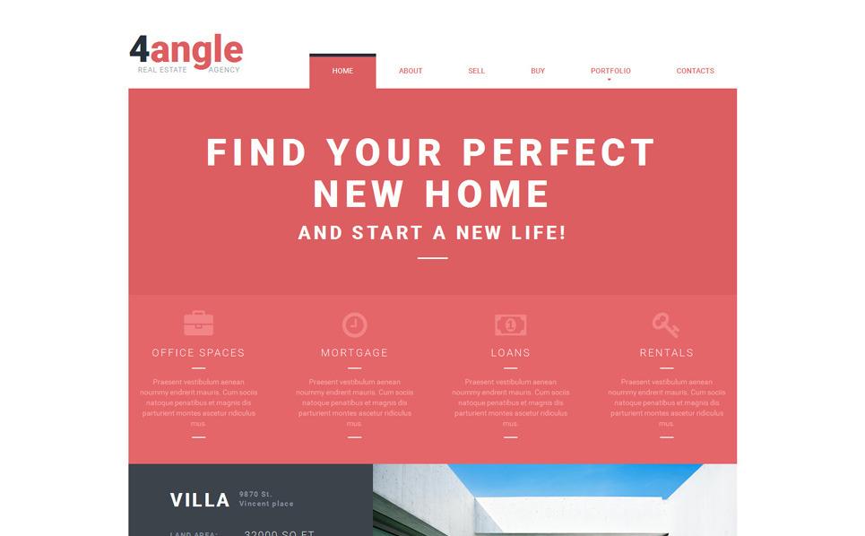 Responzivní Šablona webových stránek na téma Realitní kancelář New Screenshots BIG