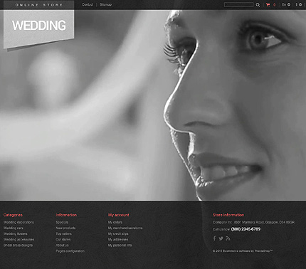 ADOBE Photoshop Template 53047 Home Page Screenshot