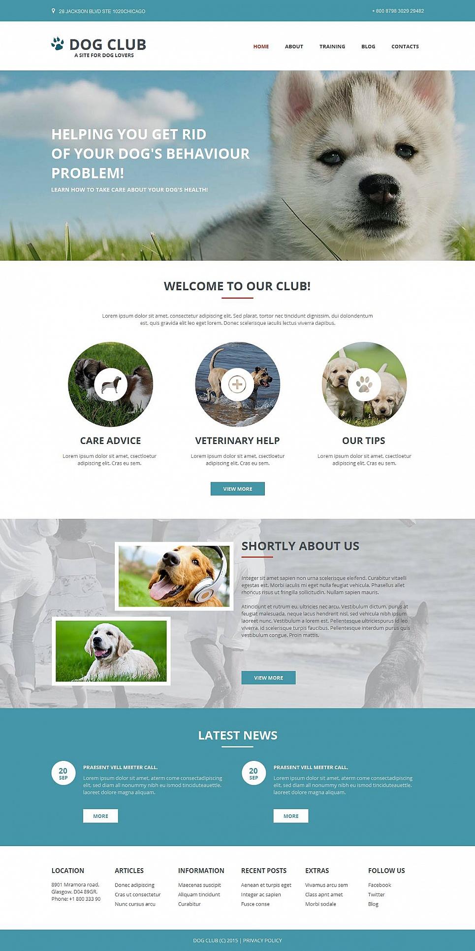 Dog Website Design for Breeders - image