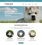 Animals & Pets Moto CMS HTML  Template 53048