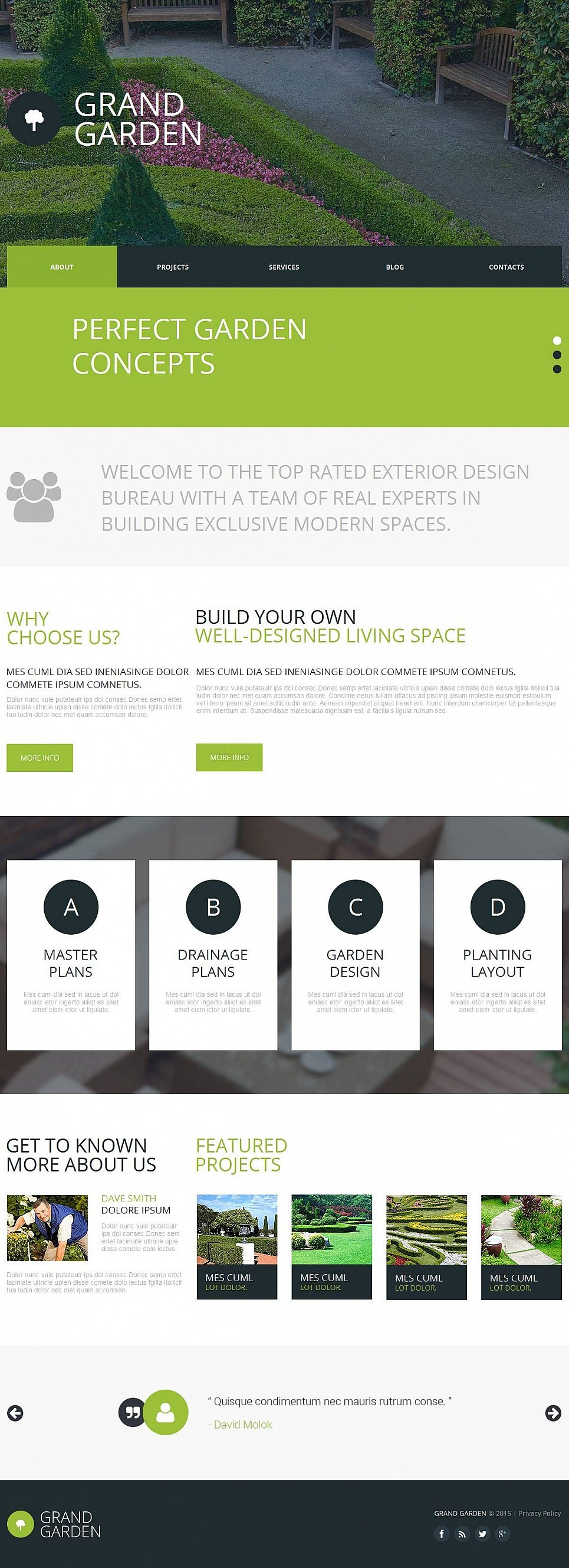 Garden Website Template with a Photo Slider - image