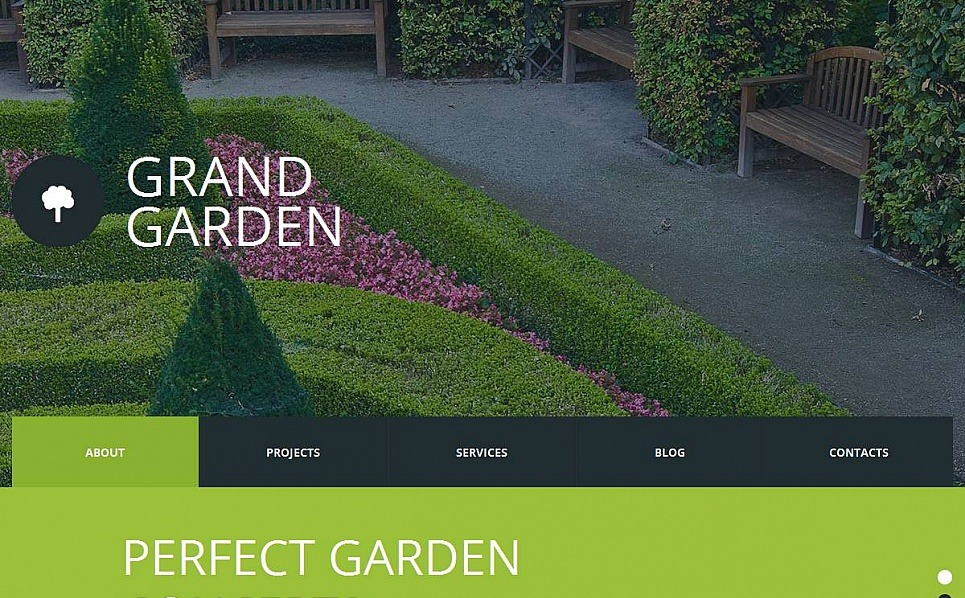 Template Moto CMS HTML para Sites de Designs de Jardim №53049 New Screenshots BIG