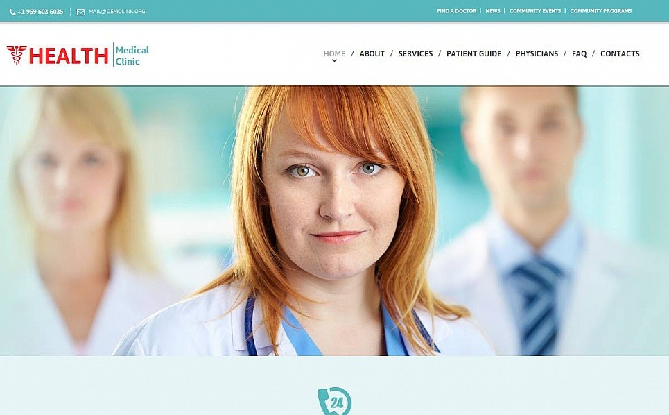 Luxusní Moto CMS HTML šablona na téma Zdravotní New Screenshots BIG