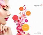 Beauty Moto CMS HTML  Template 53054