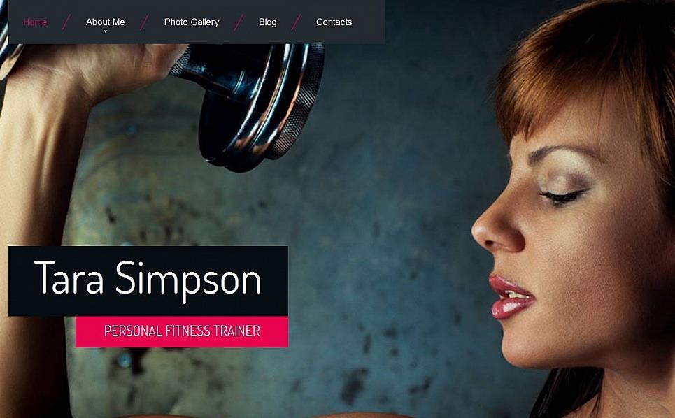 Szablon Moto CMS HTML #53055 na temat: strony osobiste New Screenshots BIG