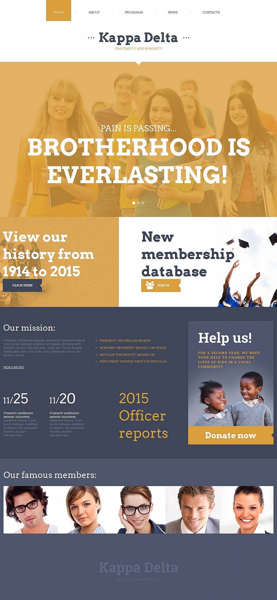 Educational Community Website Design - image