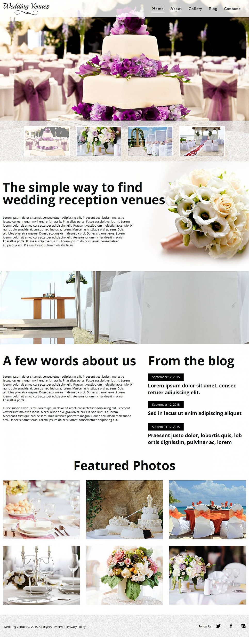 Wedding Site Template - image