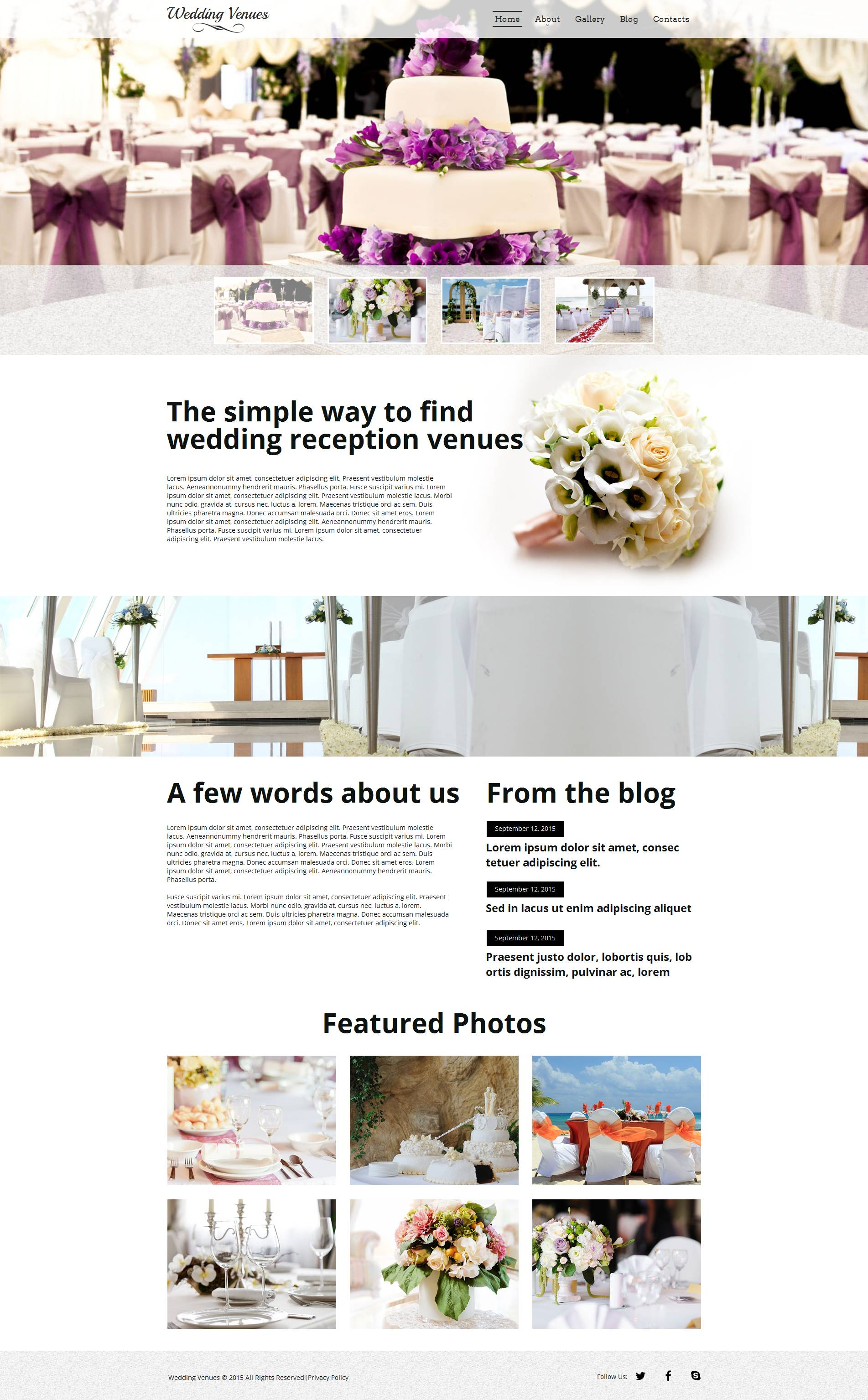 The Wedding Venues Moto CMS HTML Design 53059, one of the best Moto CMS HTML templates of its kind (wedding, most popular), also known as wedding venues Moto CMS HTML template, place Moto CMS HTML template, venue Moto CMS HTML template, event Moto CMS HTML template, party Moto CMS HTML template, city Moto CMS HTML template, beach Moto CMS HTML template, country Moto CMS HTML template, exotic Moto CMS HTML template, celebration Moto CMS HTML template, marriage and related with wedding venues, place, venue, event, party, city, beach, country, exotic, celebration, marriage, etc.