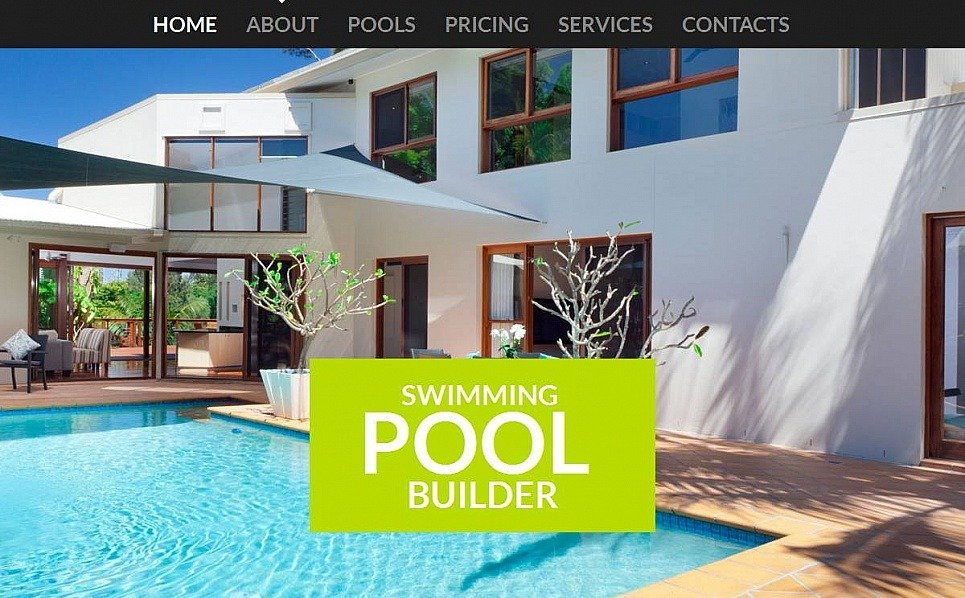 Premium Moto CMS HTML Template over Zwembad  New Screenshots BIG