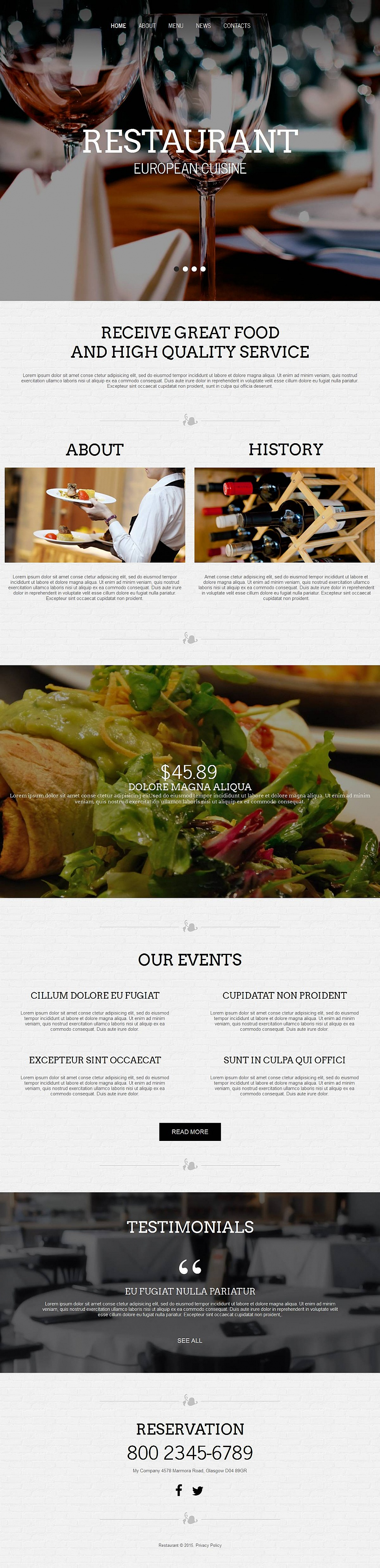Black and White Website Template for Restaurants - image