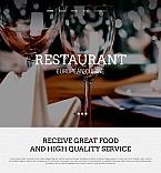 Cafe & Restaurant Moto CMS HTML  Template 53062