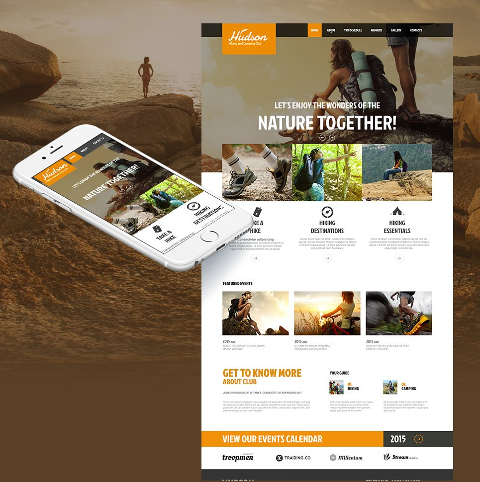 Camping Website Template with a Large jQuery Image Slider - image