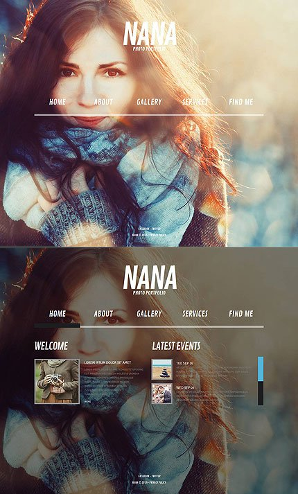 ADOBE Photoshop Template 53071 Home Page Screenshot