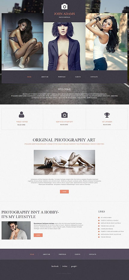 ADOBE Photoshop Template 53076 Home Page Screenshot