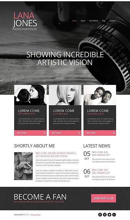 ADOBE Photoshop Template 53077 Home Page Screenshot
