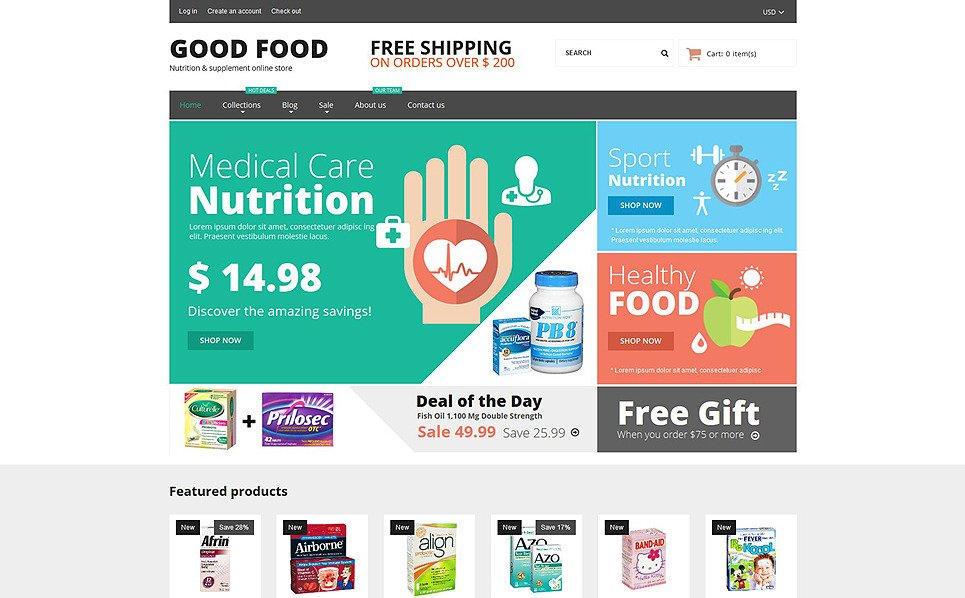 Responsive Shopify Thema over Nutrition  New Screenshots BIG