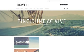 Travel Tours Store OpenCart Template
