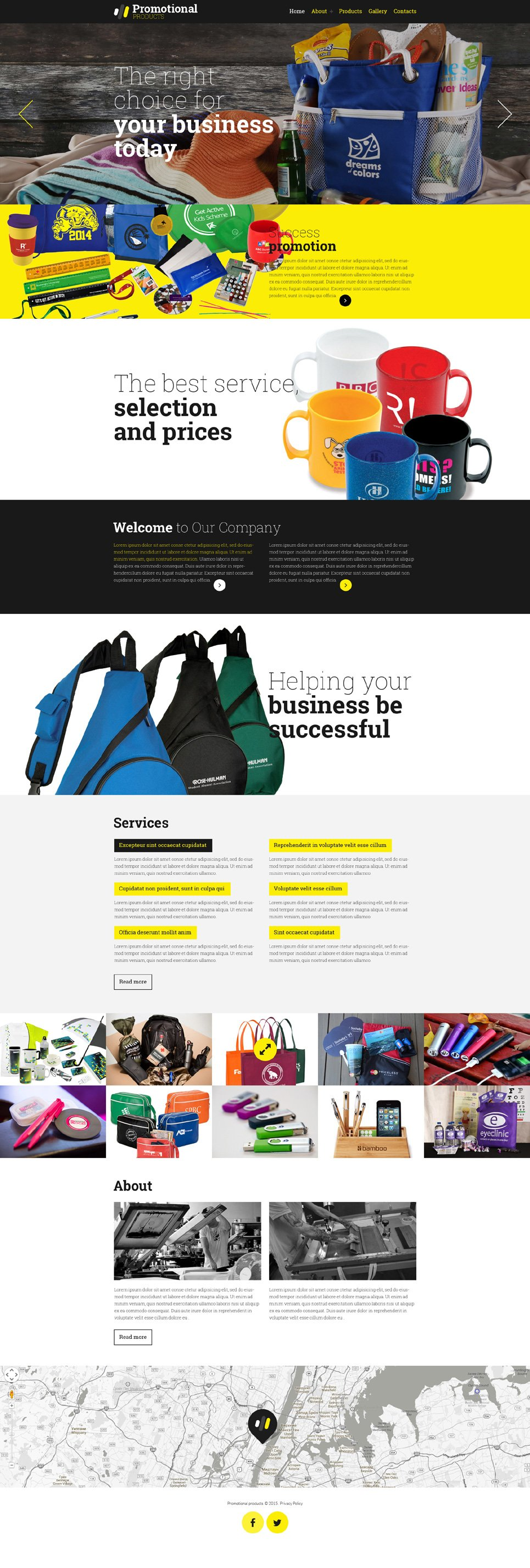 Advertising Agency template illustration image