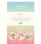 Wedding Newsletter  Template 53089