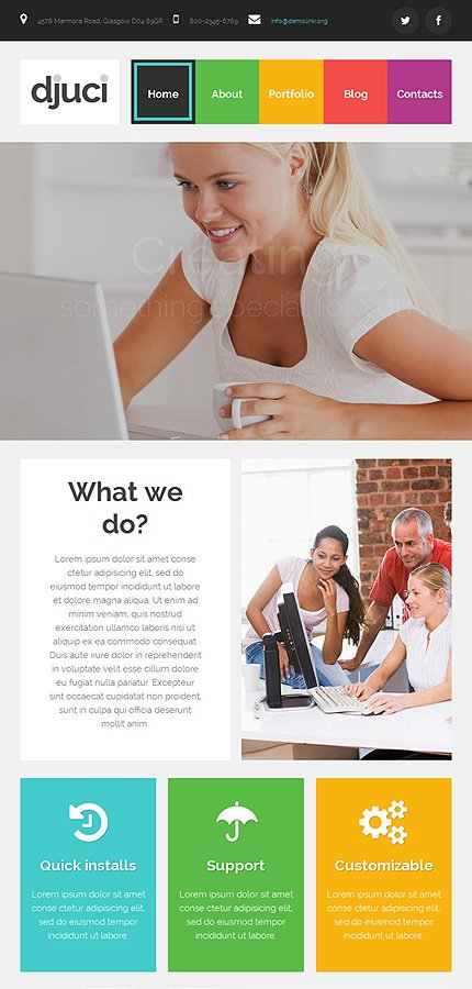 WordPress Theme/Template 53095 Main Page Screenshot