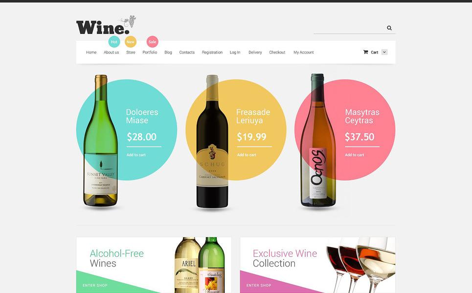 Reszponzív Bor WooCommerce sablon New Screenshots BIG