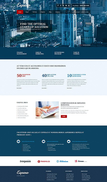 Joomla Theme/Template 53098 Main Page Screenshot