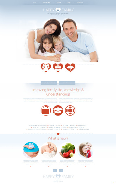Адаптивный Joomla шаблон №53005 на тему семья