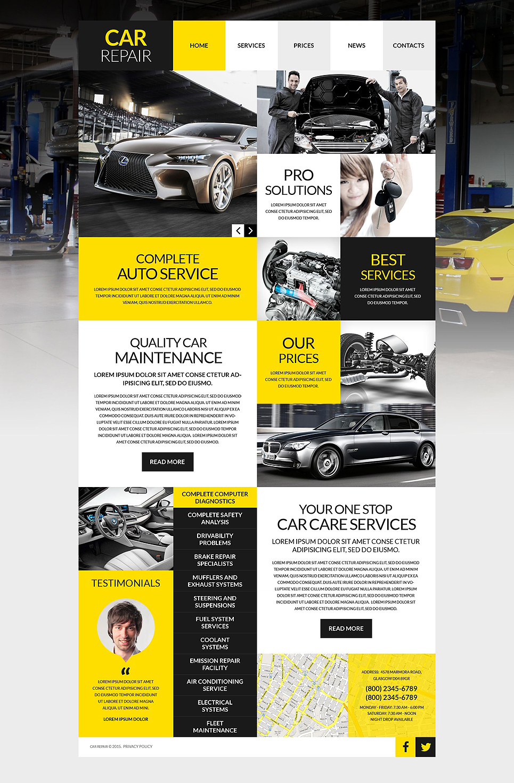 Адаптивный шаблон сайта на тему ремонт авто #53012