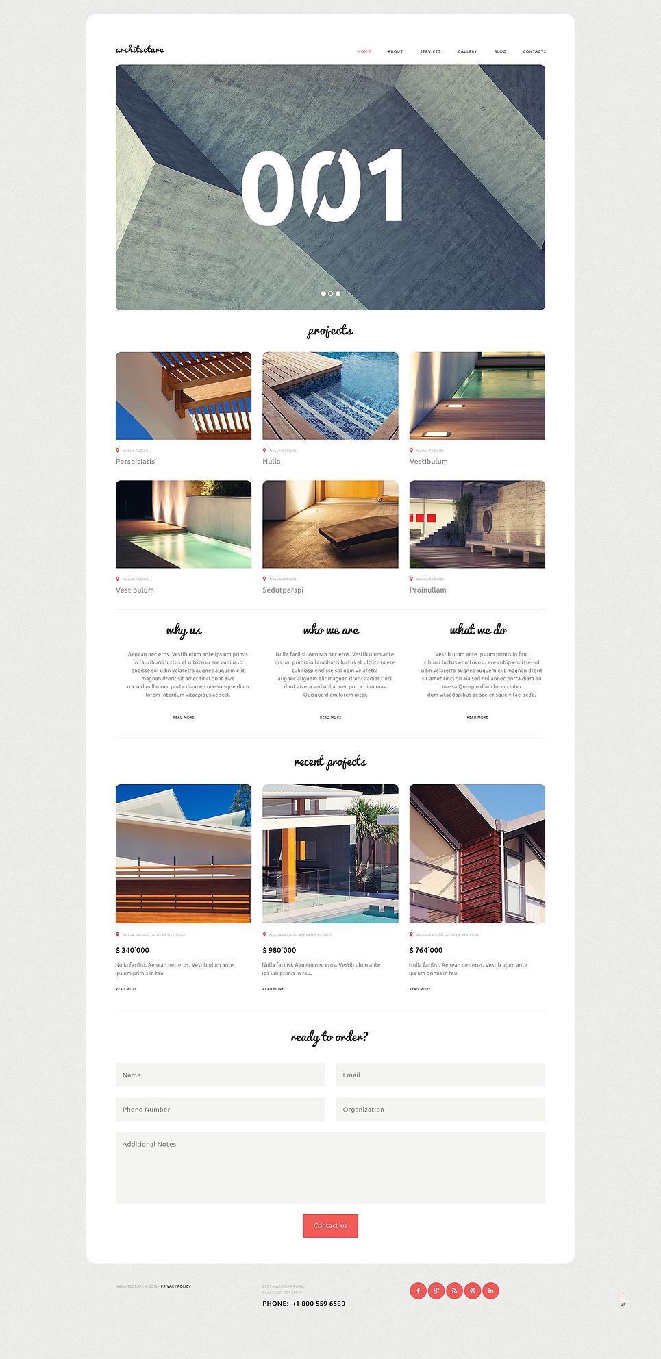 Адаптивный шаблон сайта на тему архитектура #53013
