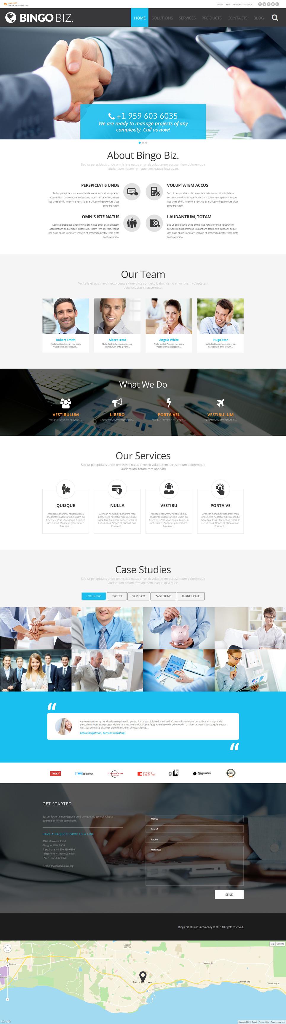 Адаптивный шаблон сайта на тему бизнес и услуги #53091