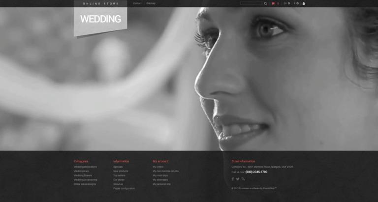 Bridal Shop PrestaShop Theme New Screenshots BIG