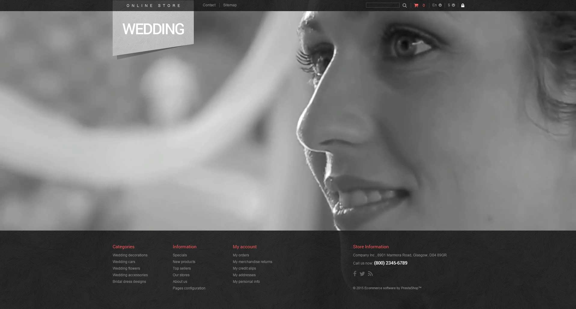 Bridal Shop PrestaShop Theme