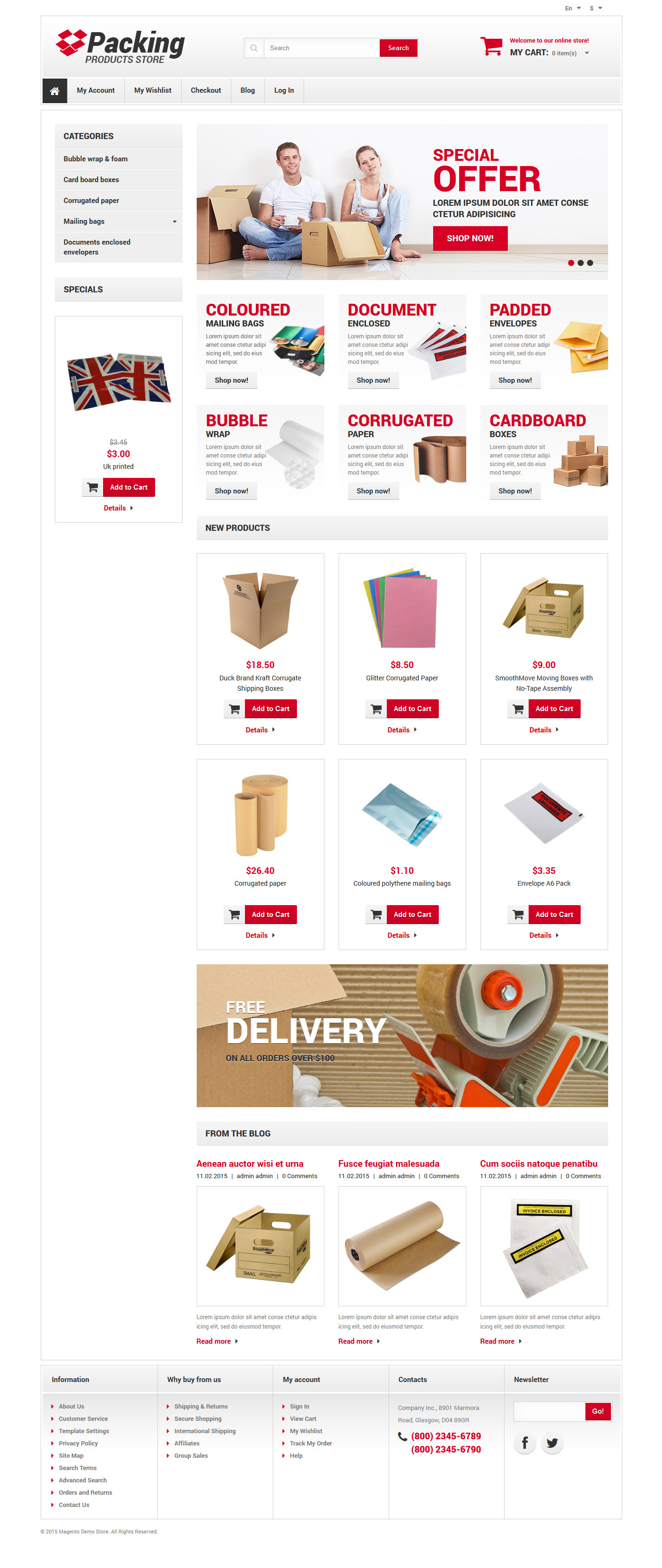 Business & Services Responsive Magento Theme - screenshot