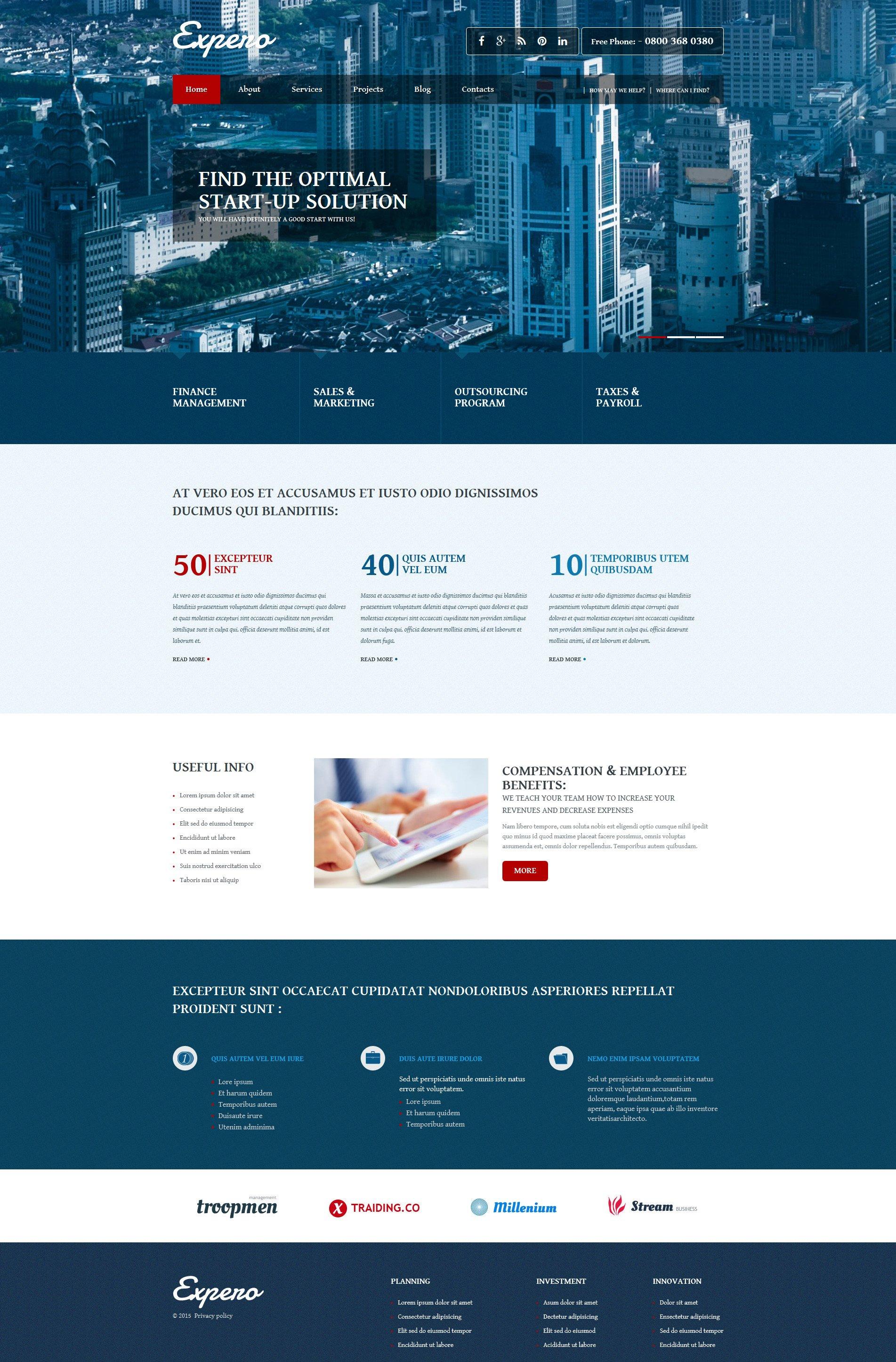 Business Joomla Template - screenshot
