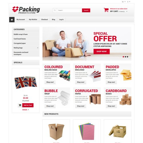 Packing - Responsive Magento Template