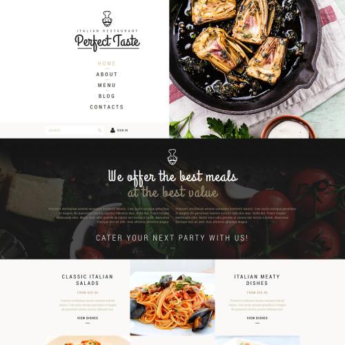 Perfect Taste - Joomla! Template based on Bootstrap