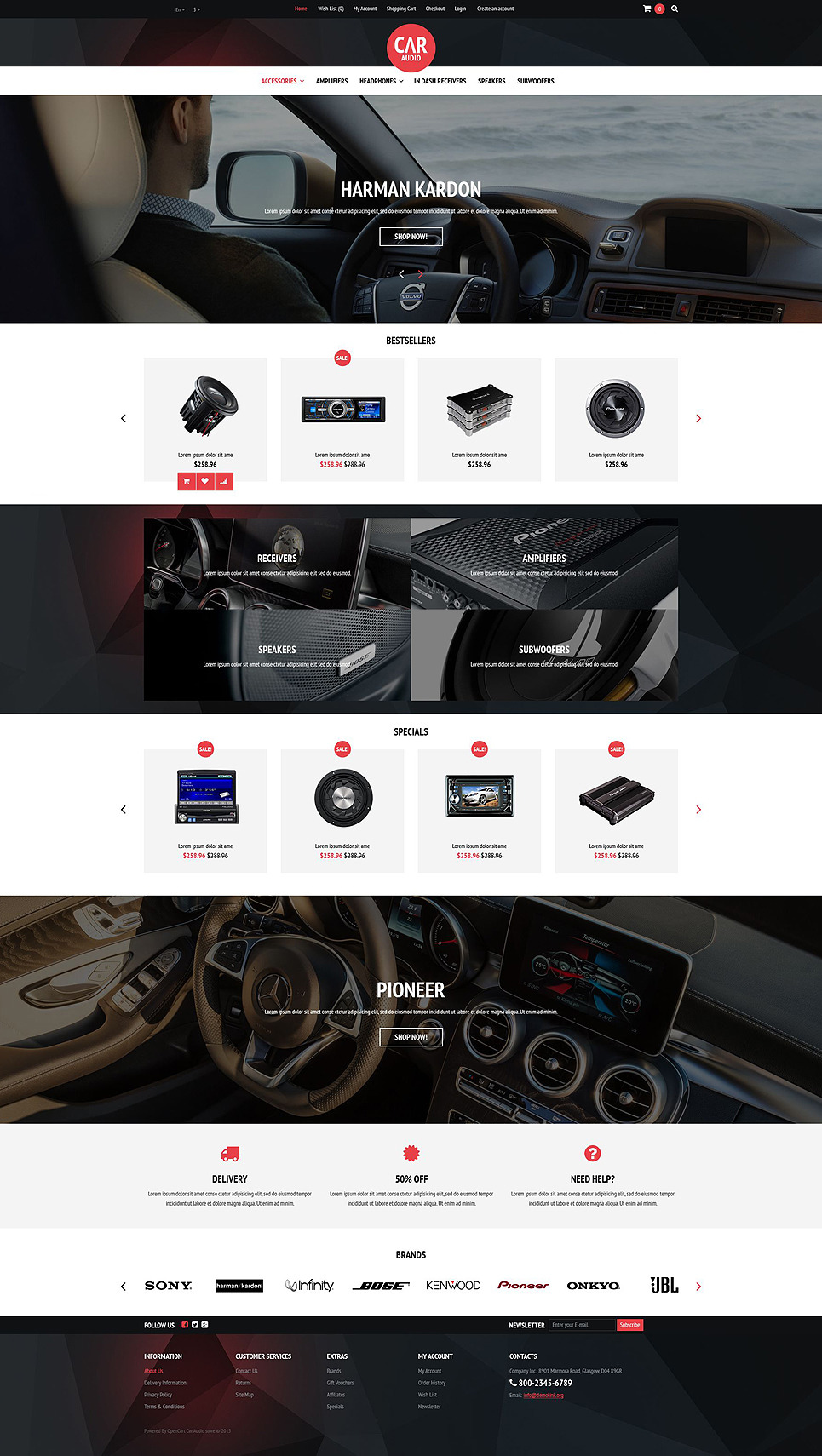 Car Audio Video Equipment OpenCart Template New Screenshots BIG