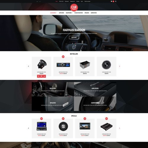 Car Audio  - OpenCart Template based on Bootstrap