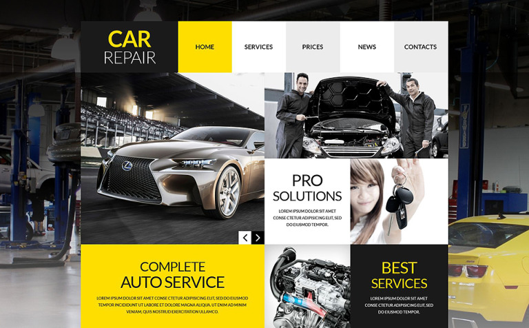 Car Repair WordPress Template