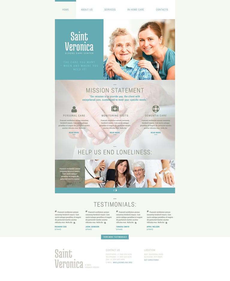Elders Care Website Template New Screenshots BIG