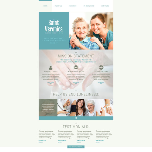 Saint Veronica - Responsive Website Template